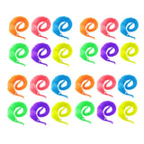 24 x Magic twisty wiggly worm fuzzy worm for kids birthday party favours, party bag fillers