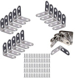 20 x Stainless Steel Brackets 40 x 40mm Right Angle Bracket Corner Brace Fastener with 80pcs Screws