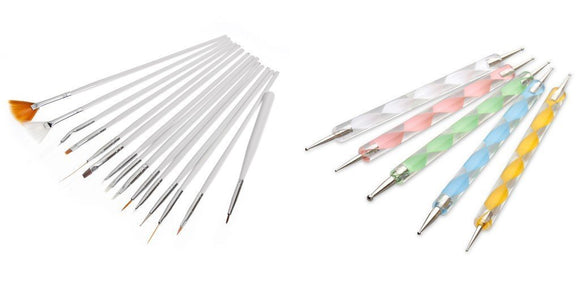 20x Nail art tools nail brushes dotting tools nail art pens