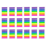2128 pcs Mini Sticky Notes Translucent Plastic Index tabs Book Page Marker neon Highlight Flags