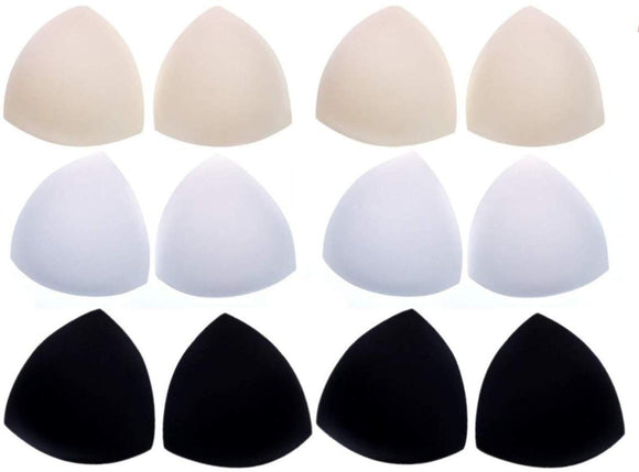 6 Pairs foam bra pad insert removable triangle bra enhancer cup for swimwear sports bra bikini