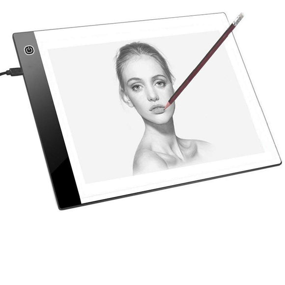 A4 LED Artcraft Tracing Light Pad 3-Level Adjustable Brightness, Artist Sketch / Copy / tracing pad