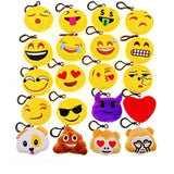 20pcs Mini Emoji Plush Toy 5cm Keychain Keyring Emoticon Pillows Kids for Party Birthday Party