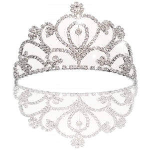 Bridal wedding princess prom crystal crown rhinestone for children and adult, aluminum alloy metal