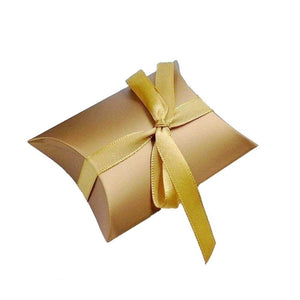 50 x Gold Pillow, Party Wedding Favour Boxes Gift Box for Favours Sweets Confetti Jewelry