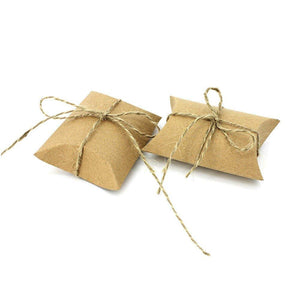 50 Rustic wedding favour box with jute string kraft paper small sweets Christmas christening party