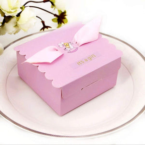 "50"" It's A Girl"" Pink Baby Girl Baby Shower Favour Boxes Paper Sweets Box Macaron Chocolate Cookie"
