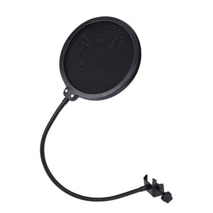 High quality microphone pop filter shield screen 360 swivel