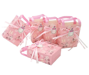 24 x Pink baby shower favour bag girl sweet bag mini party paper bag for baby girl birthday party