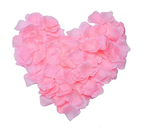 1000pcs Pink artificial silk rose petals for arts crafts wedding confetti decoration valentine's day