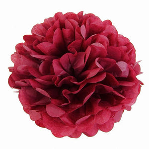 10 x 10 inch 25 cm tissue pom poms pompoms decorations accessories paper flower balls party supplies