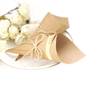 50 x DIY Kraft Paper placeholder Invitation Card Favour for Wedding Birthday Party Holy Communion