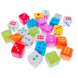 24 Novelty little rubber toy dice pencil eraser set for children party favours kids birthday gift