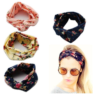 4 x Super soft cotton women elastic headband yoga sports headband headwrap stretchy head band hair