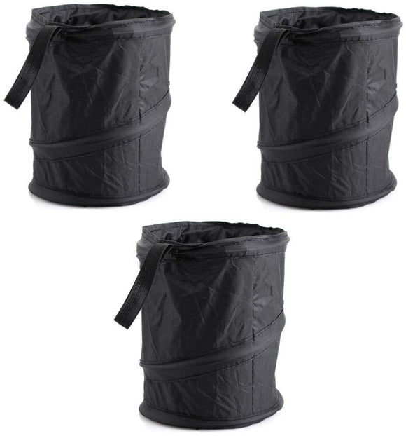 3 x Foldable Hanging Car Mini Garbage Recycle Bin and Auto Trash Bag for Garbage Storage