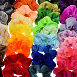 Pack of 39 x colourful velvet scrunchies elastic hair bands hair ties for kids women children girls