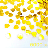 5000 pcs 1cm plastic gold love heart wedding confetti dinner table scatter, scrapbook accessories