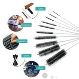 10 x Nylon Tube Cleaner Brush Pipe Cleaning Brushes for Cleaning Kitchen Kettle Spout Teapot Nozzle