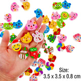 50 Cute little rubber pencil eraser set for children party favours kids birthday party bag fillers