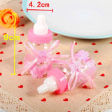 24x Pink feeding candy bottle party boxes gift box bag for sweets baby girl birthday baby shower