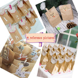 "50x Brown Kraft Paper Bag 21.5x12x7cm + 50x Wooden pegs + 50x""Thank You'' Stickers"