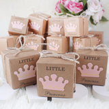 50 x Little Princess kraft paper baby shower favour boxes for girl baby shower girl birthday party