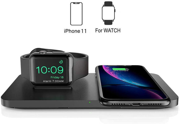 Dual 2 in 1 Wireless Charger FOR Apple Watch iPhone 11/11 Pro Max/XR/XS