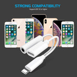 Headphone Adapter for iPhone 8 Adapter to 3.5mm Jack AUX Audio Earphone Adapter for iPhone 8/8Plus/7/7Plus/X/XS