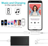 Headphone Adapter for iPhone 7 to 3.5mm Earphone Jack AUX Audio &Charge Adaptor for iPhone 8/8Plus/7/7Plus/X/XR/XS/XS max