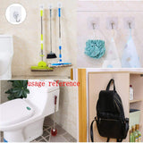 20 Waterproof Heavy Duty self Adhesive Clear Hooks Load Bearing 10kg Plastic Strong Sticky Hook