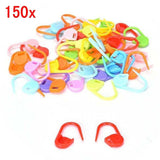 150 Multicolor locking stitch markers plastic markers crochet clips with transparent compartment box