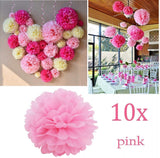 10 x 10 inch 25 cm tissue pom poms pompoms decorations accessories for wedding birthday baby shower