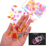 100 Mini Dummy Pacifier Acrylic Soothers, Table Scatter Confetti Party Favour Decoration Accessories