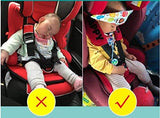 3 Soft safety baby car seat head support strap toddler holder belt fastening band stop kids necks