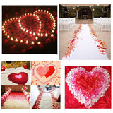 1000 pcs White Artificial Silk Rose Petals for Wedding Confetti Valentine's Day Romantic Party