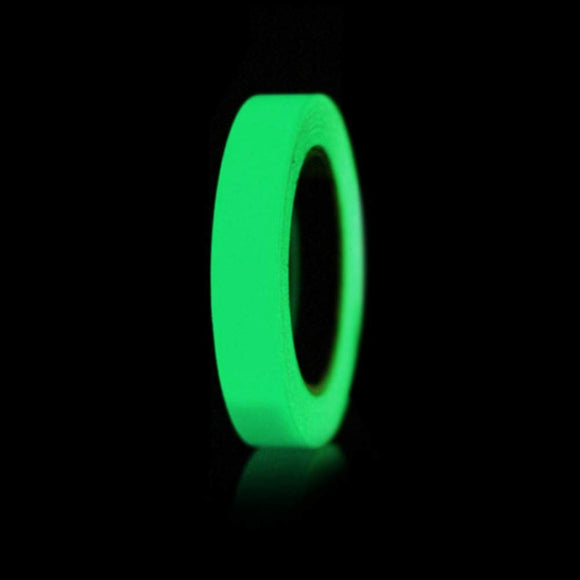 JZK 10mx2cm, 33ft x 0.8in Green waterproof fluorescent tape glow in the dark self adhesive luminous tape sticker floor step warning tape