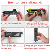 Portable electronic tester pen for diamond crystal agate lade