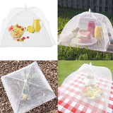 3 x White pop-up mesh Screen Food Covers mesh Reusable and Folding Food net Tent Kitchen Outdoor