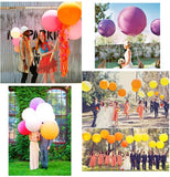 "6 x diameter 36"" 90cm colourful latex giant jumbo big balloon for wedding birthday party baby shower"