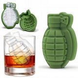 4 x Silicone 3D Grenade Shape ice Cube Mold Cake Tray Moulds ice Moulds Silicone for Whiskey Scotch