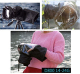 Camera rain cover protector for DSLR SLR digital cameras + lens total up to 32cm length Canon Nikon