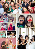 58 Just Married wedding photo booth props set photobooth wedding party decoration accessory