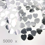 5000 pcs 1cm specular plastic silver love heart  confetti scatter, scrapbook, craft accessories