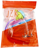 JZK 2 Pairs kids bike handlebar tassels streamers and girls micro scooter bell blue, scooter handle bar ribbons, girls bike accessories additions