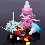 24 x Blue favour feeding bottle candy bottle party box bag for favour , sweets, gifts & jewelry