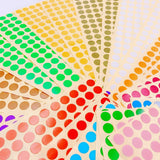 30 Sheets 10mm Label Stickers 15 Colours Small Round dot Stickers Colour Coding Sticky Marking