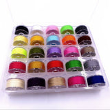 25 pcs High Quality Sewing Thread bobbins with Storage Box for Brother Janome Singer Elna Babylock
