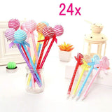 24 Novelty pens for kids lollipop ballpoint pen cute biro pen stationery gift for girls children