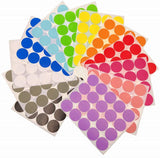 JZK 12 x Sheets 2inch 50mm 12 Colours Large Coding Labels self Adhesive Round dots Coloured Circle Marking Stickers, 240 dots