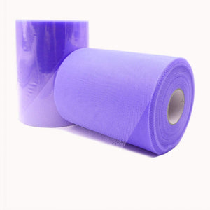 JZK 6 Inches X 100 Yards, Purple Tulle Netting Fabric Roll Spool for Party Tulle Table Skirt Tutu Dress Wedding Car Decorations Tulle Bow for Chair